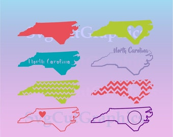 North Carolina Svg Files  - SVG Monogram - SVG Cutting Files - Svg Files for Cricut - Svg Files - SVG Silhouette Files - Svg Cricut Files