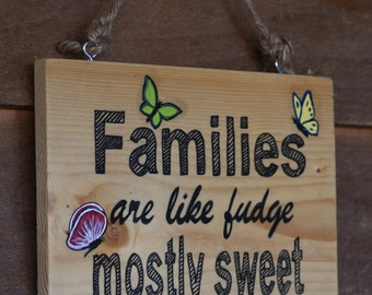 Rustic Family Sign - Family Sign - Nuts Sign - Love Family Sign -