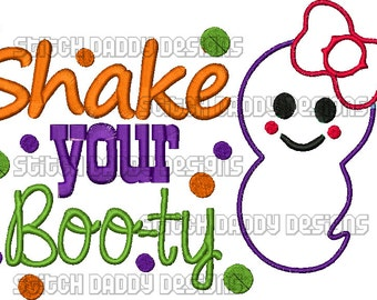 Shake your Boo-ty Ghost Applique Design