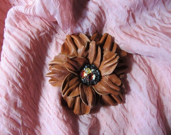 Hand-made brooch