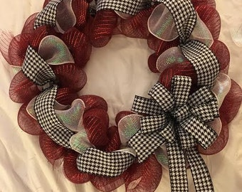 16'' 'Alabama' Houndstooth Wreath