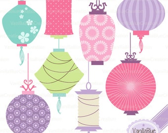 Clipart of Chinese lanterns, clipart of China, Chinese New Year, China decoration