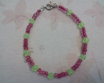 Purple and Lime Green Bracelet