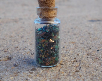 Opal shaving vial necklace