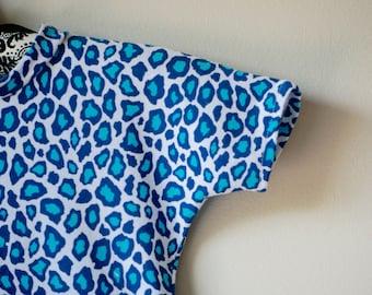 Blue Leopard Romper
