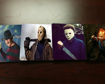 Scary Movie Character Coasters