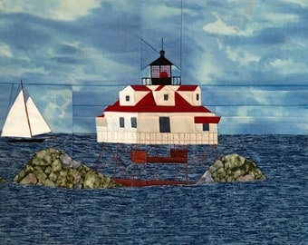 Thomas Point, MD Lighthouse quilt pattern