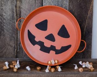 Jack-o-Lantern candy tray