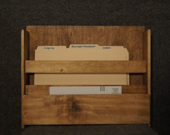 OF02 - Custom-Made Wall/Table File Holder with Mailbox