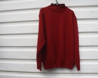 Red high neck jumper