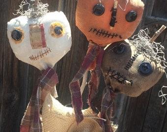 Halloween Pumpkin Pokes - Pumpkins - Primitive Pumpkins