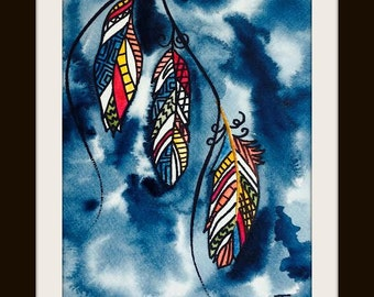 Charming Feathers- Print