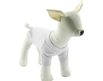 White Dog T-Shirt - Dog Tees - Dog Shirts - Pet Shirts - XXS to XXL