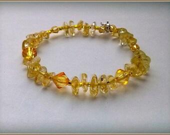 Yellow sunny bracelet
