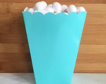 Teal Popcorn Boxes (5)