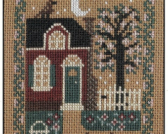 Spring Cottage by Prairie Schooler Counted Cross Stitch Pattern/Chart