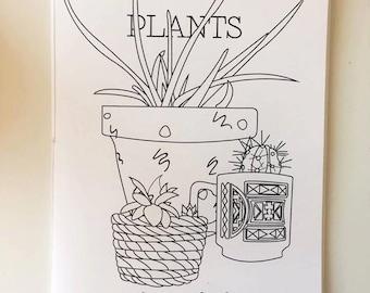 Coloring Plants Zine