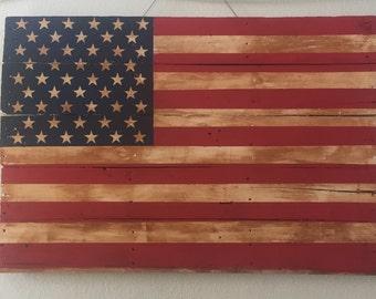 Rustic Pallet American Flag