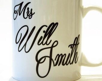 Mrs Will Smith mug customised TotalMug fun mug mother's day gift for her