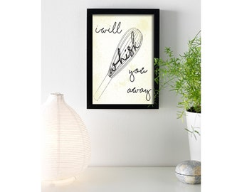 I Will Whisk You Away - Framed and Print Only