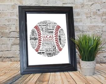 Personalized Baseball/Softball Word Art