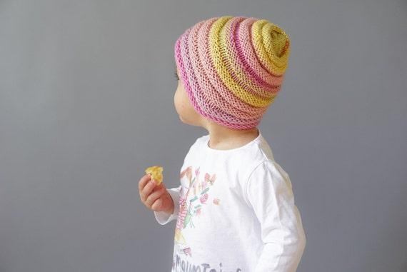 Knit Toddler Girl Hat Beanie/ wool hat for girl