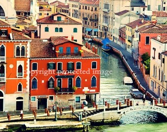 Venice Italy Landscape 11x14 Photography Print Artistic Vintage