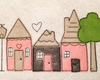 Countryhäuschen Doodle embroidery file