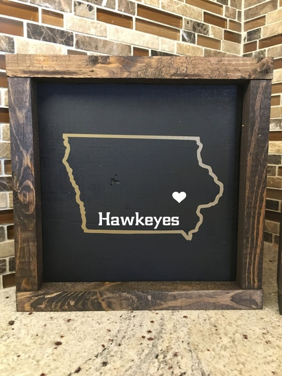 Items similar to hawkeyes iowa sign hawkeye wood sign for Iowa hawkeye decor