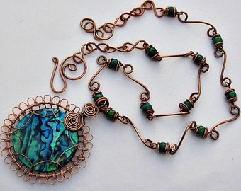 Turquoise. Handmade necklace