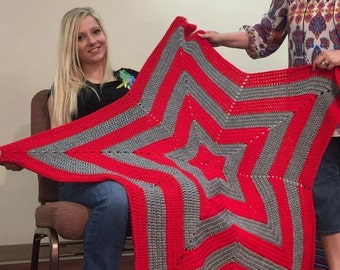 Crocheted Star Afghan