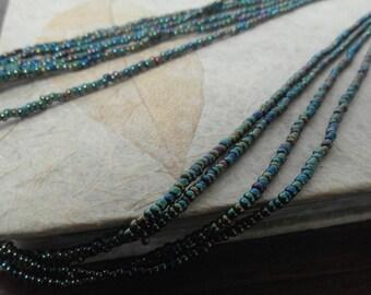 Halskette aus Massai-Perlen in bunt