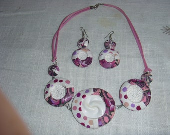 set of necklace and earrings