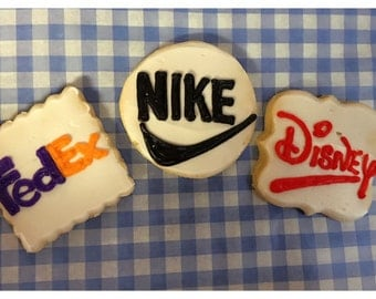 1 dozen Custom logo cookies(with your logo) individually wrapped
