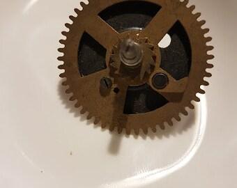 Vintage clock - Cog / Gear - 4cm