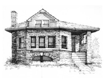 Chicago Bungalow Fine Art Print 8x10