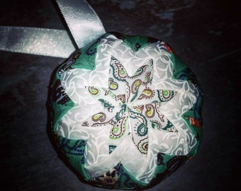 Handmade Quilted Fabric Bauble