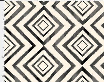 Diamond Ikat Crib Sheet. Fitted Crib Sheet. Baby Bedding. Crib Bedding. Minky Crib Sheet. Crib Sheets. Ikat. Black and White.
