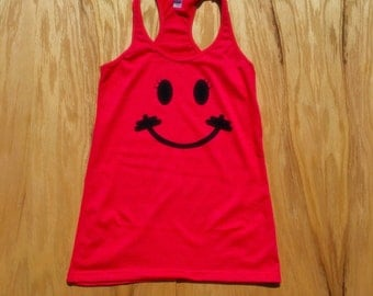 Ladies Who Lift Smiley Face Racerback Tank