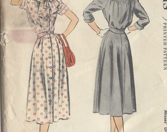 "1954 Vintage Sewing Pattern B38"" DRESS (R326) McCalls 3104"