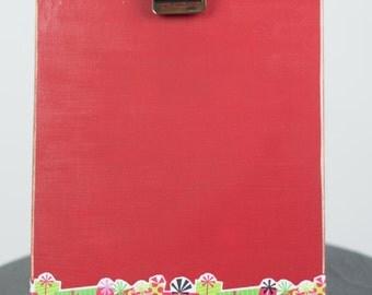 Christmas tabletop clipboard frame