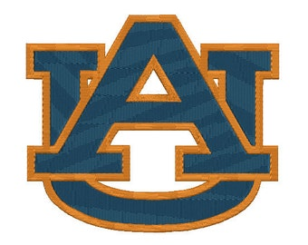 4 sizes Auburn Tigers Embroidery Design, Auburn University Logo, Football Team Machine Embroidery Pattern, Instant Download