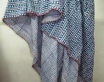Vintage Cotton Kantha Quilt Reversible Sari Throw Blanket Bed Cover Diamond Kantha Throw Twin Size Blanket
