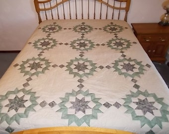 Broken Star Handquilted Full Quilt