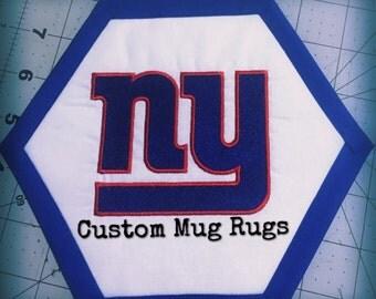 NY Giants Mug Rug / Coaster