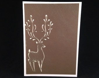 Set of 5 Reindeer CLASSIC Christmas Cards