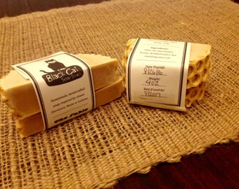Fable of the Bees Honey Bastille Soap- Book Soap, Honey Soap, Bastille Soap, Natural Soap, Cold Process Soap, Handcrafted Soap