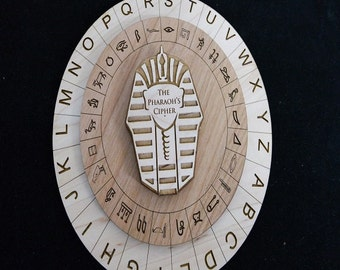 The Pharoah's Cipher - Escape Room Puzzle and Escape Room Prop - Egyptian Themed Escape Room Puzzle