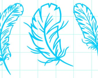 Assorted Feathers Decal