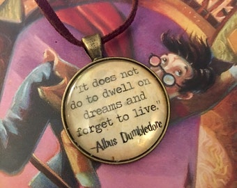 Dumbledore Quote Harry Potter Inspired Necklace